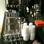 The bar setup